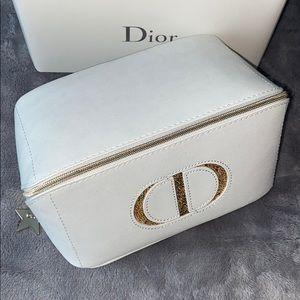 NIB authentic Dior Beaute vegan leather travel bag